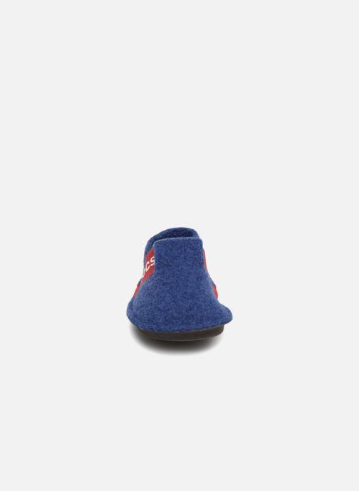 Chaussons Crocs Classic Slipper K Bleu vue portées chaussures