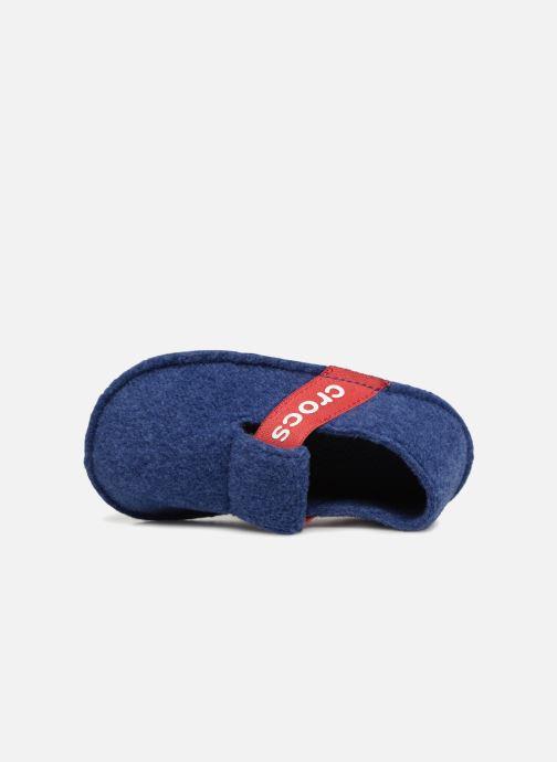 Chaussons Crocs Classic Slipper K Bleu vue gauche