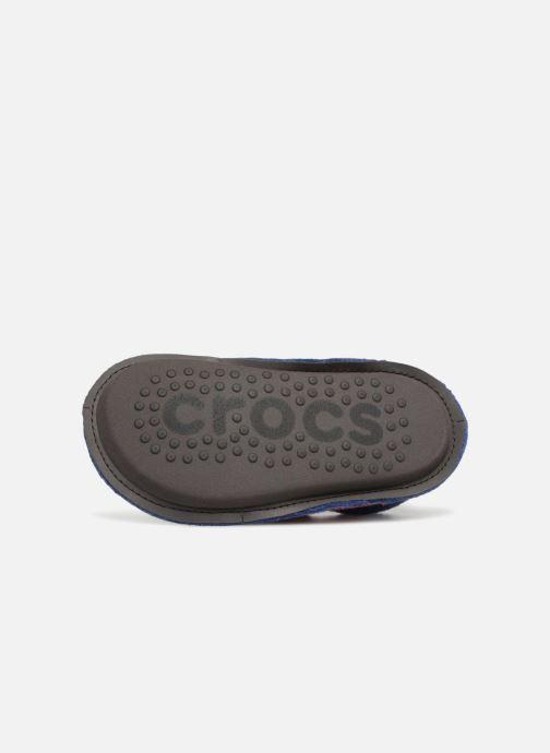 Chaussons Crocs Classic Slipper K Bleu vue haut