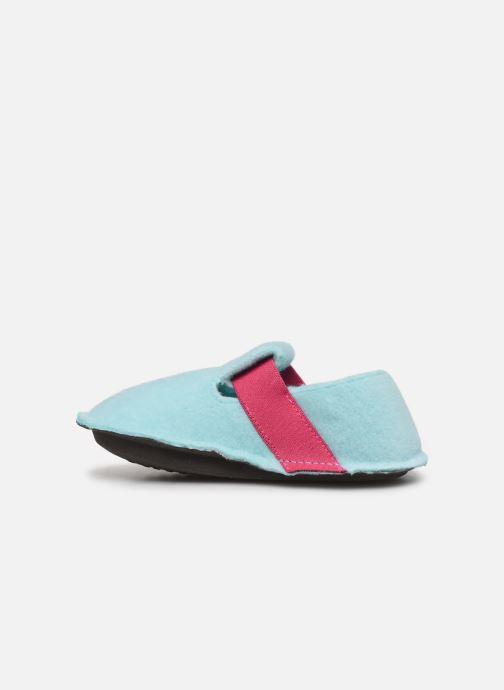 Pantuflas Crocs Classic Slipper K Azul vista de frente
