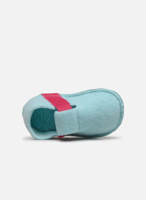 Hausschuhe Crocs Classic Slipper K blau ansicht von links