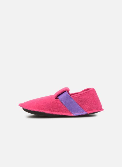 Pantuflas Crocs Classic Slipper K Rosa vista de frente