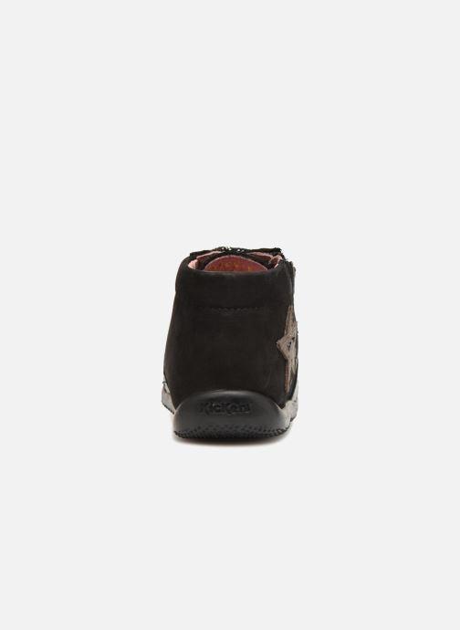 Boots en enkellaarsjes Kickers Boustar Zwart rechts