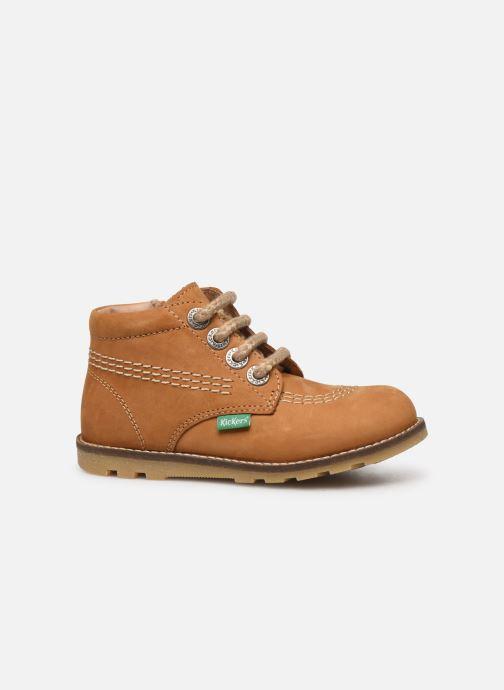 Bottines et boots Kickers Nonoklick Jaune vue derrière