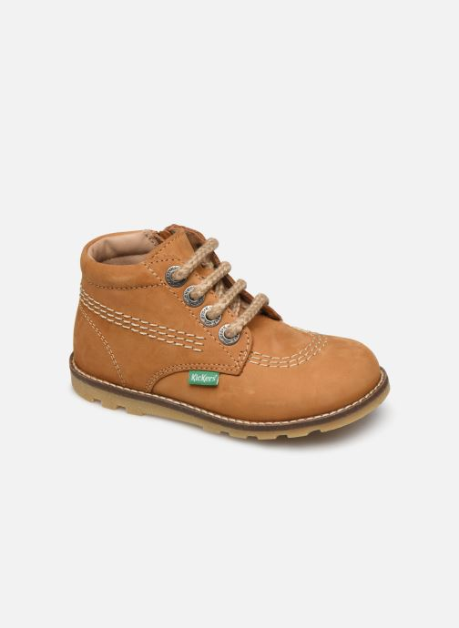 Bottines et boots Kickers Nonoklick Jaune vue détail/paire