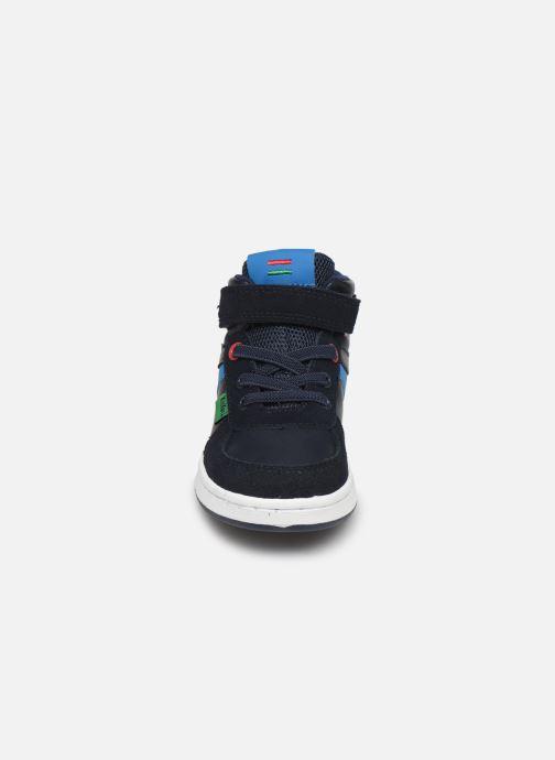 Baskets Kickers Bilbon BB Mid Bleu vue portées chaussures