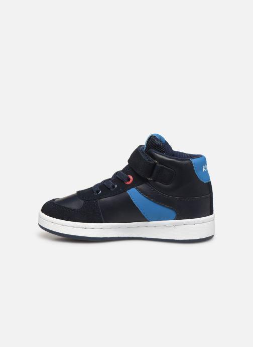 Sneakers Kickers Bilbon BB Mid Blauw voorkant