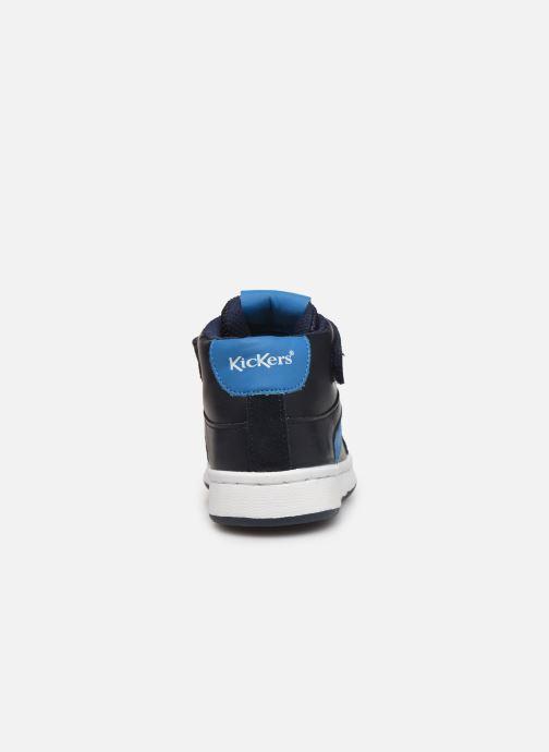 Sneakers Kickers Bilbon BB Mid Blauw rechts