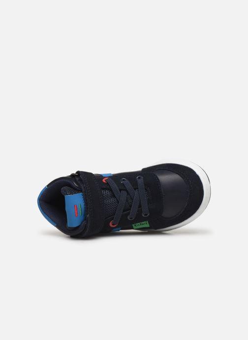 Baskets Kickers Bilbon BB Mid Bleu vue gauche