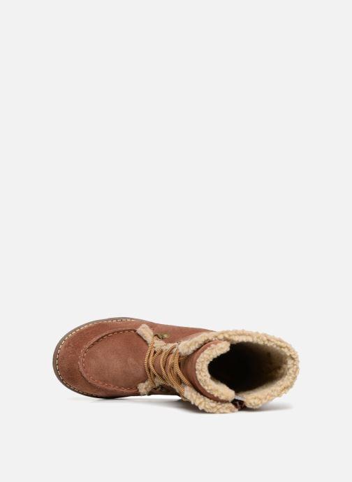 Laarzen Kickers Uzik Bruin links