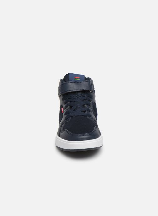 Baskets Kickers Gready Mid Cdt Bleu vue portées chaussures