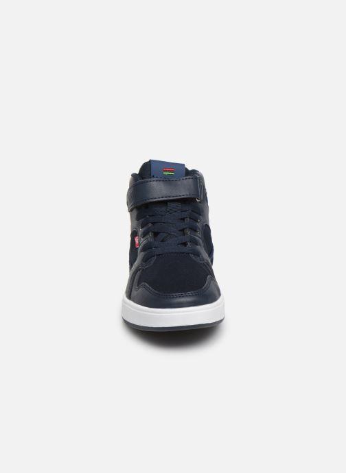 Baskets Kickers Gready Mid Cdt Bleu vue portées chaussures