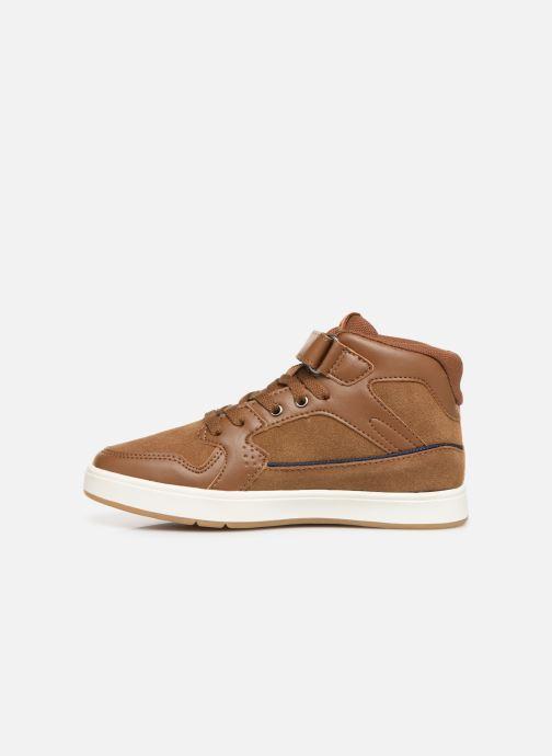 Sneakers Kickers Gready Mid Cdt Bruin voorkant