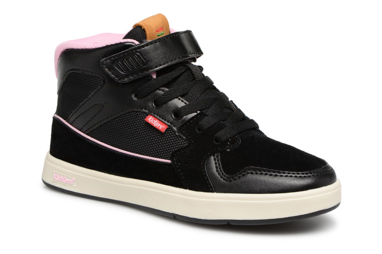 Sneakers Kickers Gready Mid Cdt Svart detaljerad bild på paret