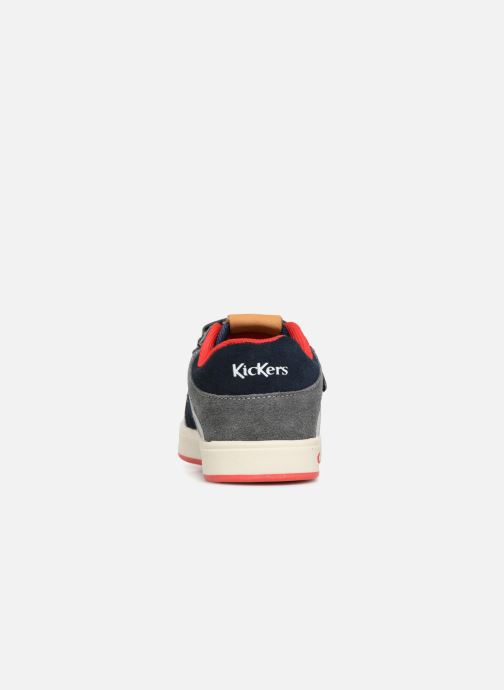 Baskets Kickers Gready Low Cdt Bleu vue droite