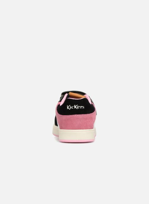 Deportivas Kickers Gready Low Cdt Negro vista lateral derecha