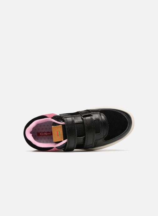 Deportivas Kickers Gready Low Cdt Negro vista lateral izquierda