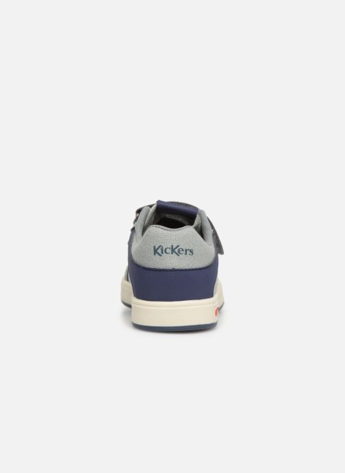 Deportivas Kickers Gready Low Cdt Gris vista lateral derecha