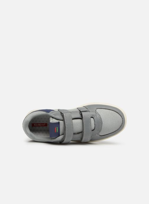 Deportivas Kickers Gready Low Cdt Gris vista lateral izquierda