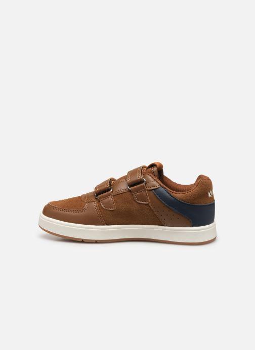 Sneakers Kickers Gready Low Cdt Bruin voorkant