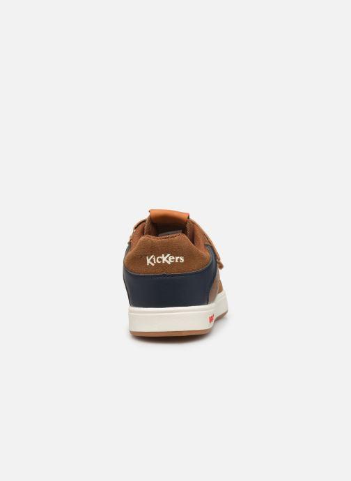 Sneakers Kickers Gready Low Cdt Bruin rechts