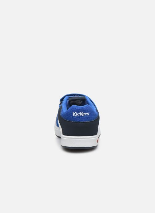 Deportivas Kickers Gready Low Cdt Azul vista lateral derecha