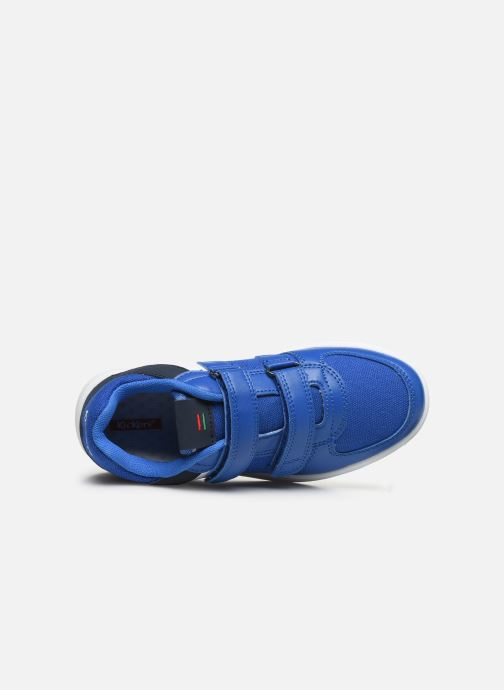 Baskets Kickers Gready Low Cdt Bleu vue gauche