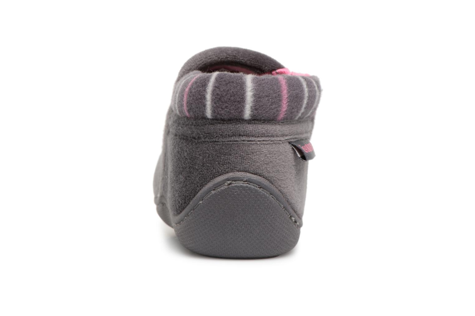 Slippers Isotoner Bottillon Zip Polyvelours Grey view from the right