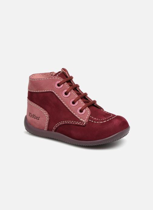 Bottines et boots Kickers Bonzip Bordeaux vue détail/paire