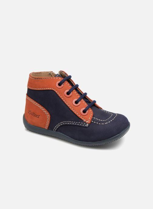 Bottines et boots Kickers Bonzip Bleu vue détail/paire