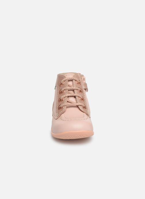 Bottines et boots Kickers Bonzip Rose vue portées chaussures