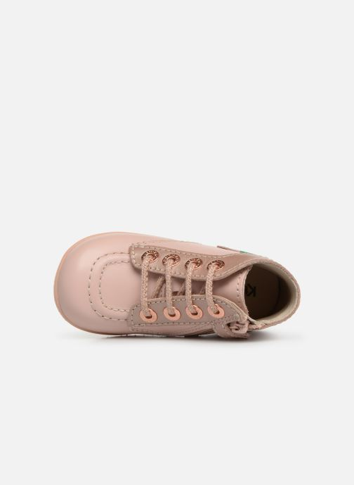 Boots en enkellaarsjes Kickers Bonzip Roze links
