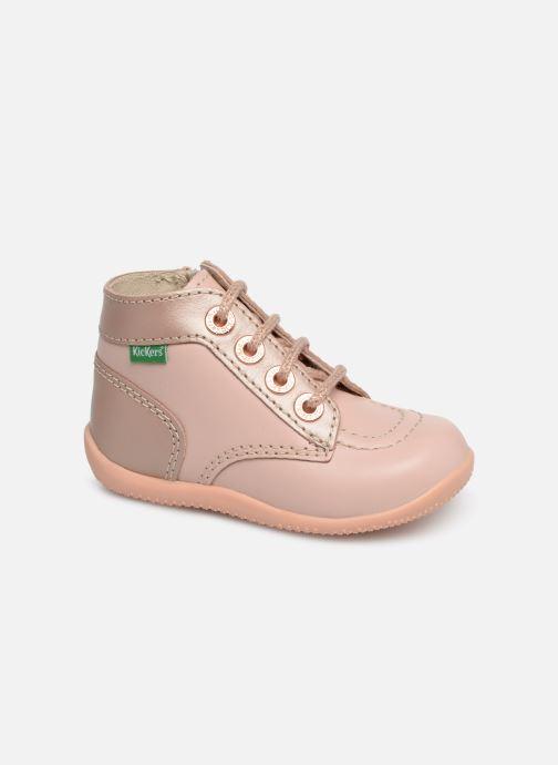 Bottines et boots Kickers Bonzip Rose vue détail/paire