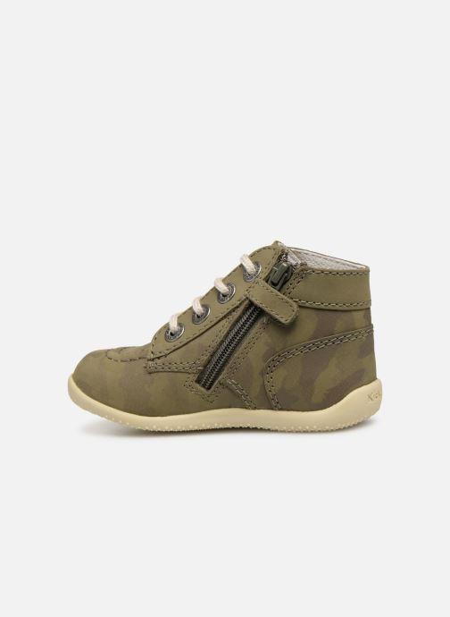 Bottines et boots Kickers Bonzip Vert vue face