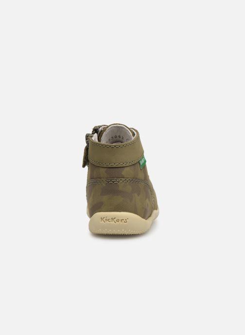 Boots en enkellaarsjes Kickers Bonzip Groen rechts