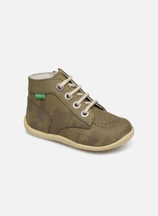Bottines et boots Kickers Bonzip Vert vue détail/paire