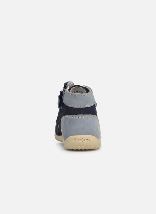 Bottines et boots Kickers Bonzip Bleu vue droite