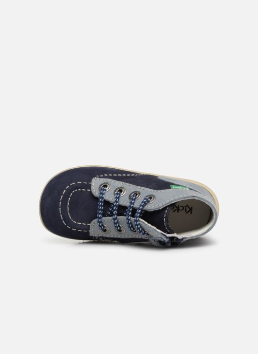 Bottines et boots Kickers Bonzip Bleu vue gauche