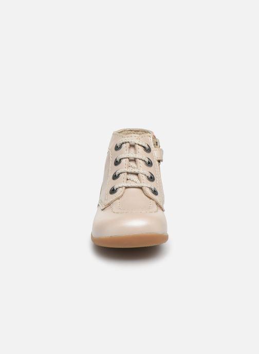 Bottines et boots Kickers Bonzip Blanc vue portées chaussures