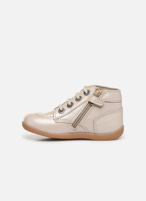 Bottines et boots Kickers Bonzip Blanc vue face