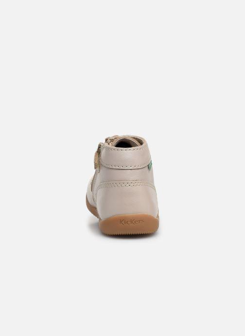 Bottines et boots Kickers Bonzip Blanc vue droite
