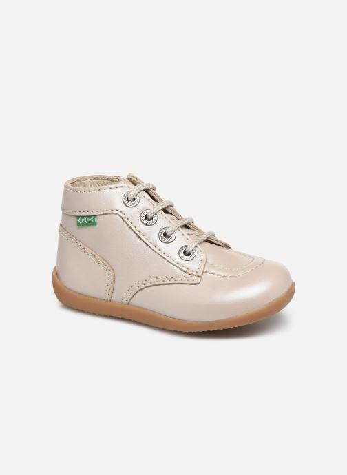 Bottines et boots Kickers Bonzip Blanc vue détail/paire