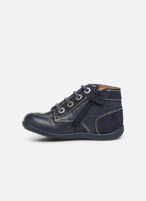 Boots en enkellaarsjes Kickers Bonzip Blauw voorkant