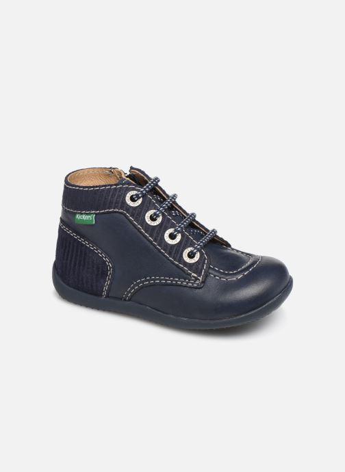 Boots en enkellaarsjes Kickers Bonzip Blauw detail