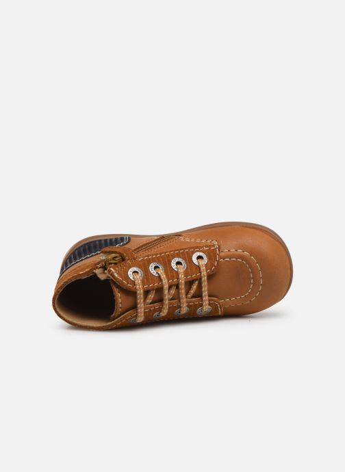 Bottines et boots Kickers Bonzip Jaune vue gauche