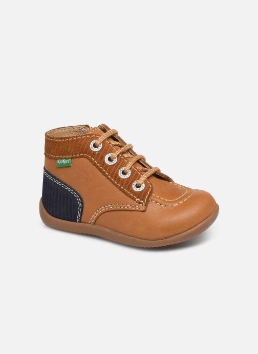 Bottines et boots Kickers Bonzip Jaune vue détail/paire