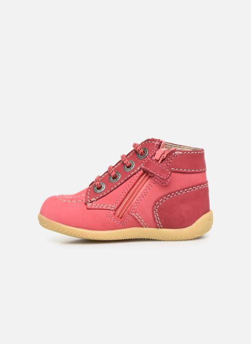 Boots en enkellaarsjes Kickers Bonzip Roze voorkant