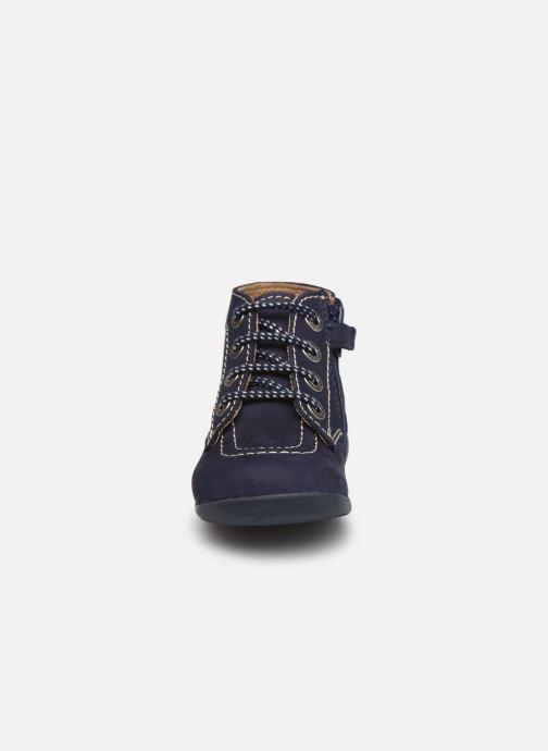 Stivaletti e tronchetti Kickers Bonzip Azzurro modello indossato
