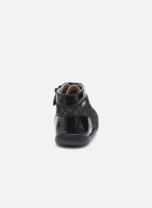 Bottines et boots Kickers Bonzip Noir vue droite