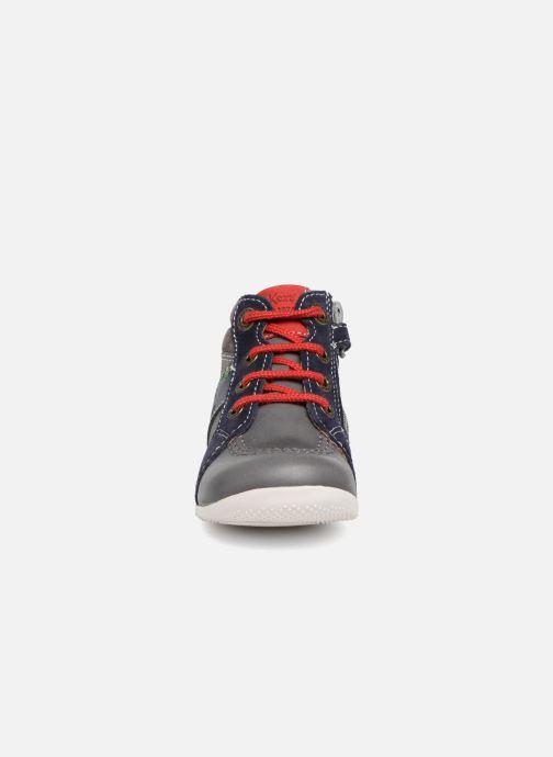 Bottines et boots Kickers Bakari Gris vue portées chaussures